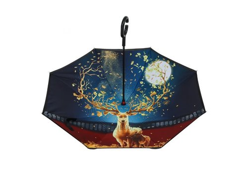 Peach Accessories F921-13  Reindeer upside down Umbrella