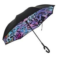 F921-6  Leopard print upside down Umbrella