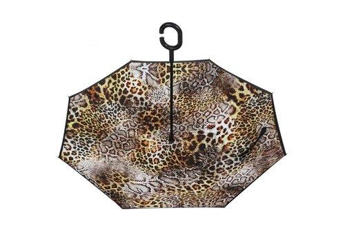 Peach Accessories F921-1 Snake print upside down Umbrella