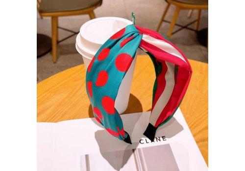 Peach Accessories HA728 Fuchsia Spotty Hairband