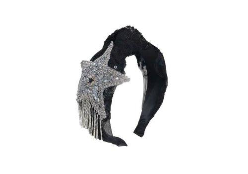 Peach Accessories HACH604 Big star Hairband in Black