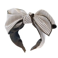 HA708 Large Check Bow Hairband