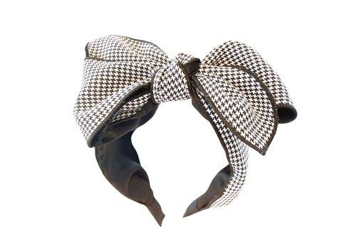 Peach Accessories HA708 Large Check Bow Hairband