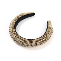 HA607 Gold Metal beaded Hairband