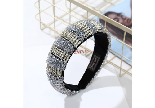 Peach Accessories HACH607 Large Jewel Crystal Hairband