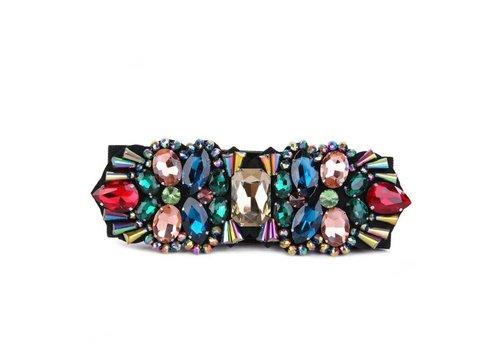 Peach Accessories BEL023 Colourful Crystal elastic Belt