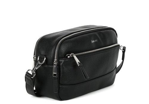 BINNARI BAGS BINNARI 18901 Black Double Zip Shoulder Bag