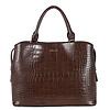 BINNARI BAGS BINNARI 18851 Brown Croc Work Bag