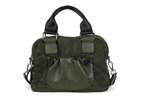BINNARI BAGS BINNARI 18982 Olive Glossy Vinyl Bag