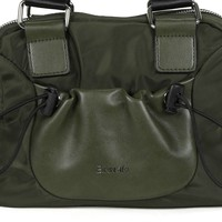 BINNARI 18982 Olive Glossy Vinyl Bag