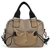 BINNARI BAGS BINNARI 18982 Taupe Glossy Vinyl Bag