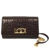 Lodi LODI L1202 Brown Croc Leather Bag