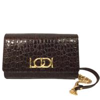 LODI L1202 Brown Croc Leather Bag