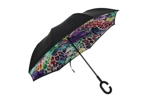 Peach Accessories F921-2 Wild Leopard Flower Umbrella