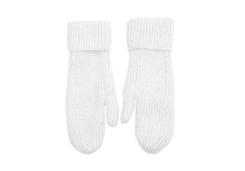 Peach Accessories SDN100 Winter White Knit Mittens