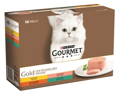 Gourmet Gourmet gold 12-pack fijne mousse