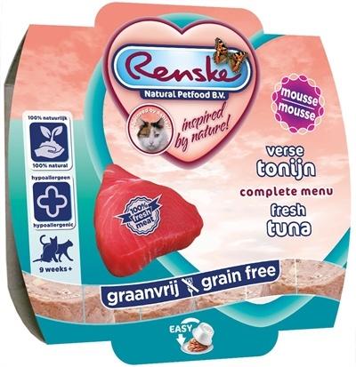 Renske 8x renske kat vers vlees maaltijd verse tonijn mousse