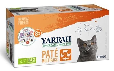 Yarrah Yarrah organic kat multipack pate zalm / kalkoen / rund