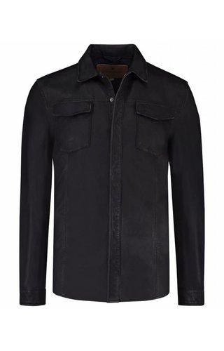 Goosecraft Goosecraft Leather Shirt Black