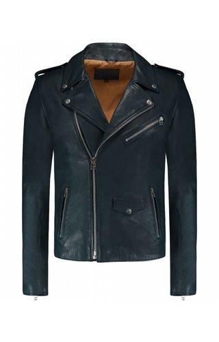 Goosecraft Goosecraft Leather Jacket Perfecto Indigo