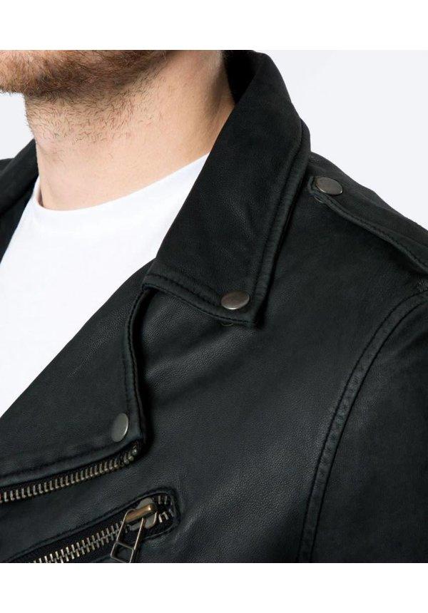 Goosecraft Leather JKT Milan Black