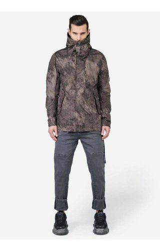 Krakatau Krakatau Light Short Parka Smoke Printed Brown Q158/18