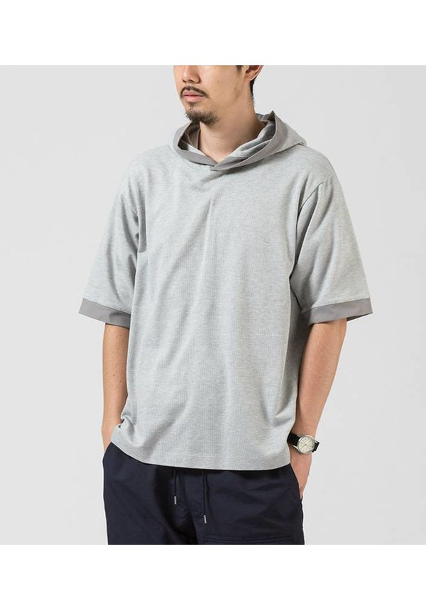 H/S Hood Pullover Heather Grey