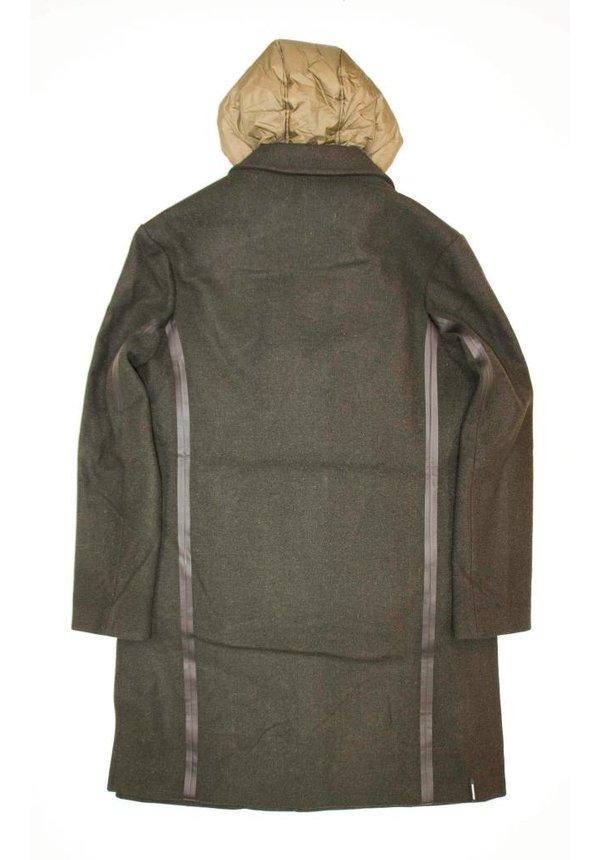 Krakatau Wool Coat Qm 171 Mud