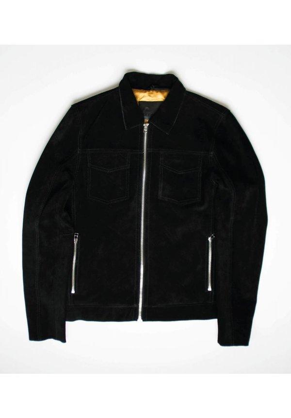 Goosecraft Leather GC Andreas Jacket SeudBlack