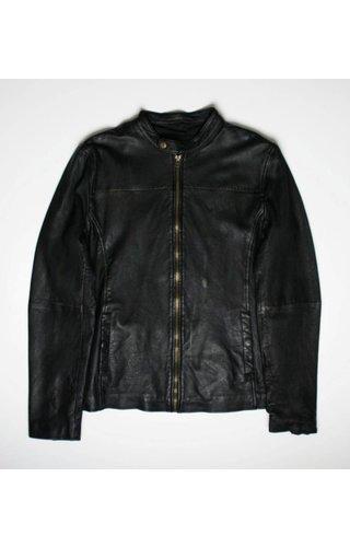 Goosecraft Goosecraft Leather Sheffield Biker Jacket GrapeLeaf