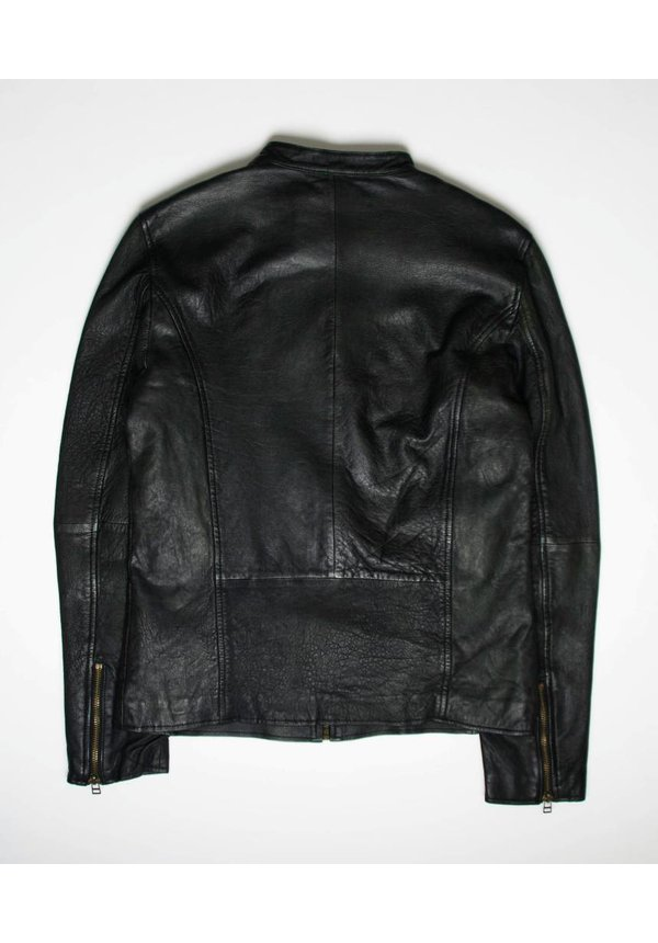 Goosecraft Leather Sheffield Biker Jacket GrapeLeaf