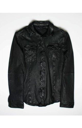 Goosecraft Goosecraft Leather Shirt 076 Black