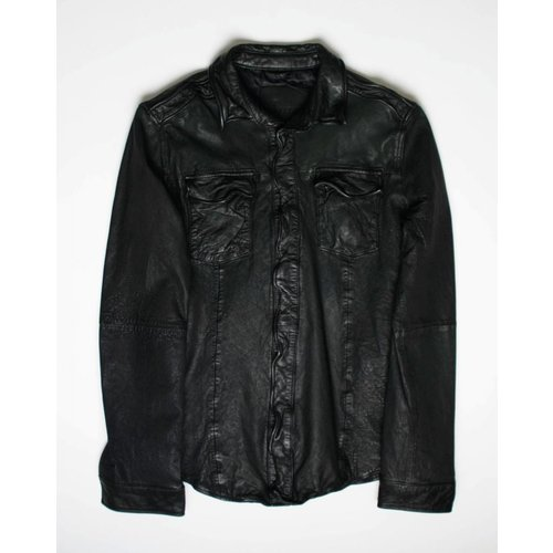 Goosecraft Goosecraft Leather Shirt 076 Black