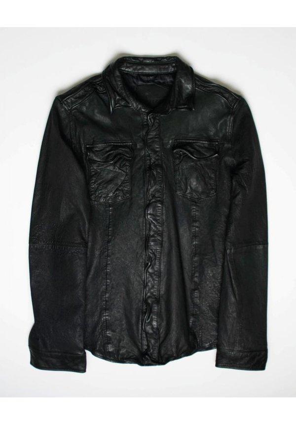 Goosecraft Leather Shirt 076 Black