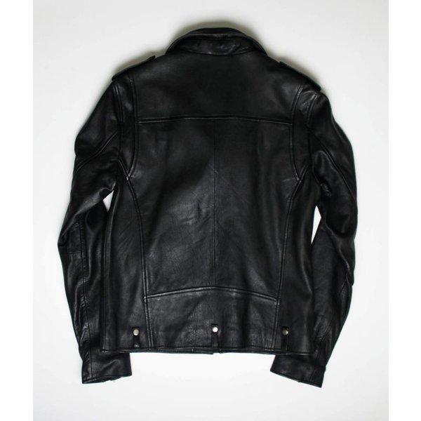Goosecraft Leather GC Alex Perfecto Jacket Jet Black