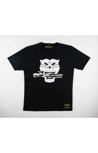 Denham Denham x Barbour Black Cat Tee HCJ Shadow Black
