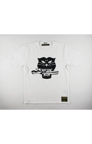 Denham Denham x Barbour Black Cat Tee HCJ Optic White