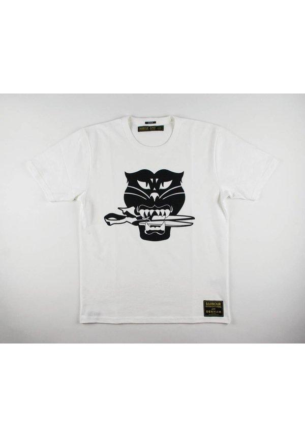 Black Cat Tee HCJ Optic White