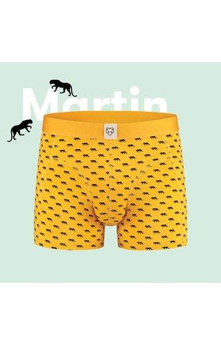 A-Dam Boxer A-Dam Boxer Brief Matin Yellow Tiger