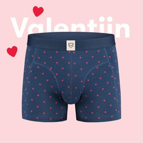 A-Dam Boxer A-Dam Boxer Brief Valentijn Blue hart