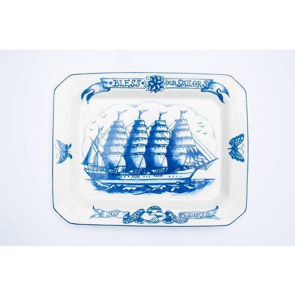 Bless Our Sailors Big Platters 40CM