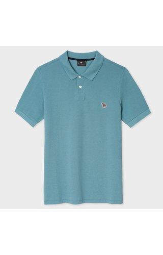 PS Paul Smith Paul Smith Ss Reg Fit Polo Shirt Blue