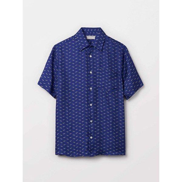 Tiger Of Sweden Fonzo Knit Shirt Deep Ocean Blue