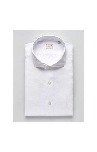 Xacus Xacus Casual & Sport Linen Shirt White 41125 001