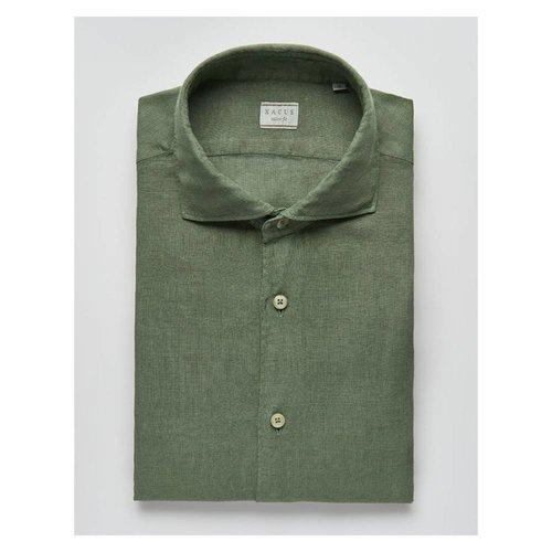 Xacus Xacus Casual & Sport Linen Shirt Olive 41125 611