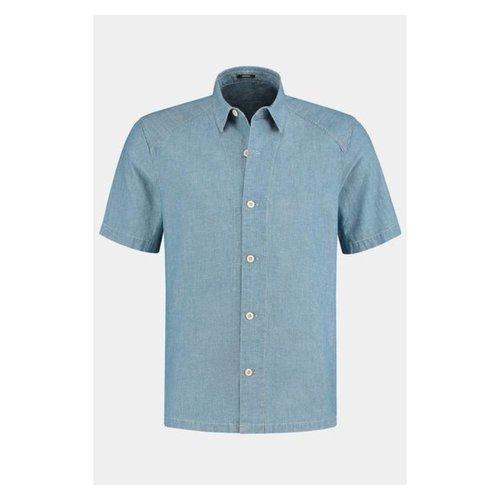 Denham Denham Sherman Ss Shirt Hcb Indigo