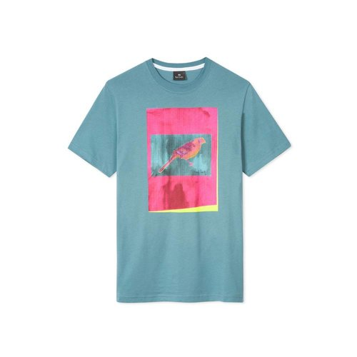 PS Paul Smith Paul Smith Ss Reg Fit T-Shirt Bird Blue