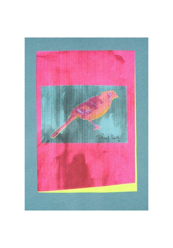 Paul Smith Ss Reg Fit T-Shirt Bird Blue