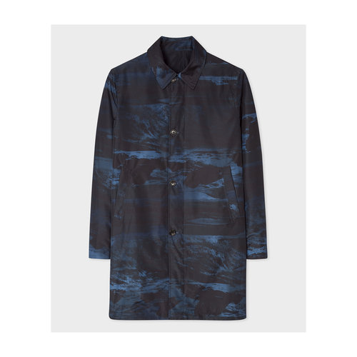 PS Paul Smith Paul Smith Reversible Mac Coat Grey Black