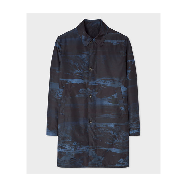 Paul Smith Reversible Mac Coat Grey Black